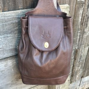 Vintage sling back leather backpack 🎒